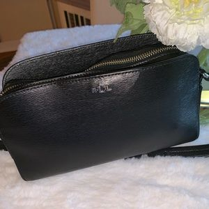 Stunning Ralp Lauren crossbody bag in black
